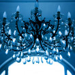 Vintage crystal lamp toned in blue — Stock Photo #4783883