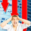 Young business man in panic — Stock Photo #4783981