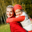 Mother and daughter outdoors — Stock Photo #4783996
