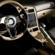 Stock Photo: Tuned sport car. Luxury leather interior