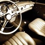 Luxury car interior — Stock Photo