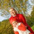 Mother and daughter outdoors — Foto Stock