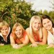 Group of happy friends having fun outdoors — Stock Photo #4784147