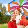 Mother and daughter having fun outdoors — Foto de Stock