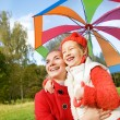 Mother and daughter having fun outdoors — Stock Photo #4784173
