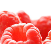 Ripe raspberries isolated on white background — Stock Photo
