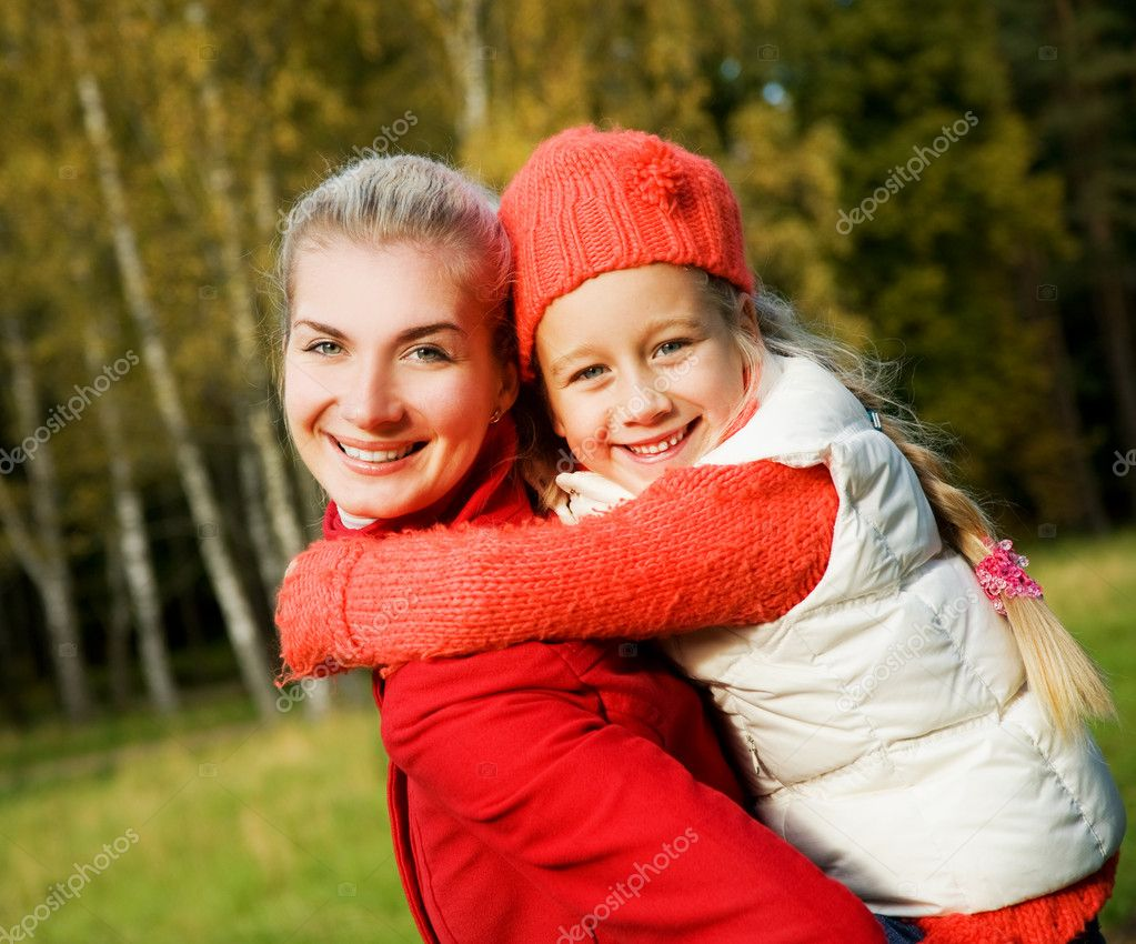 Mother and daughter outdoors  Stockfoto #4783996
