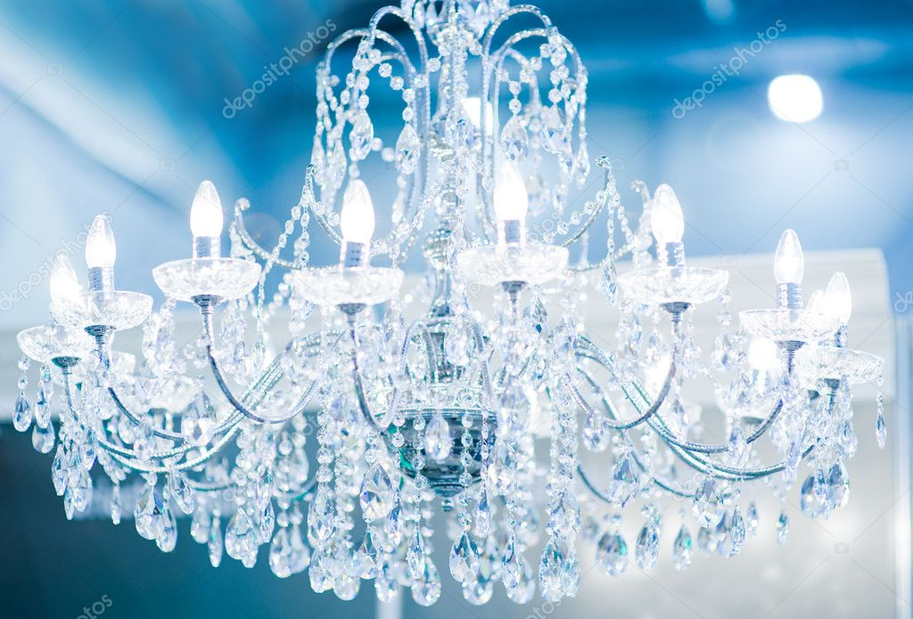 Vintage crystal lamp — Stock Photo #4784020