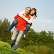 Young couple in love outdoors — Stockfoto #4790805