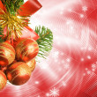 Christmas decoration over abstract background - Zdjcie stockowe