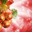 Christmas decoration over abstract background - Foto Stock