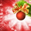 Christmas decoration over abstract background — Foto de Stock
