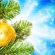 Christmast decoration over abstract background - Foto Stock