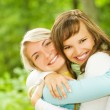 Two beautiful young women outdoors — Stock Photo #4790813