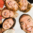 Stock Photo: Group of happy friends making funny faces