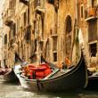 Traditional Venice gondola ride — Stock Photo #4790989