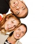 白い背景上に分離されて幸せな友達 — ストック写真
