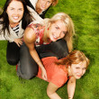 Group of happy friends having fun outdoors — Stock Photo