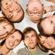 Group of happy friends making funny faces — Stock Photo #4791007