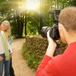 Stock Photo: Outdoors photoshoot