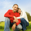 Young couple in love outdoors — Stock Photo #4791076