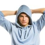 yakışıklı genç bir Hood — Stok fotoğraf