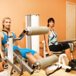 Tho women exercising in a sport club — Stock Photo #4791202