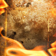 Abstract fire frame — Stock Photo