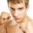 Handsome young boxer — Stock Photo