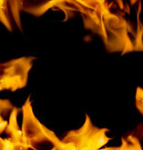 Abstract fire frame isolated on black background — Stock Photo