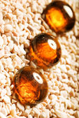 Amber decoration — Stock Photo
