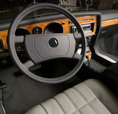 Luxury old car interior — Stock Photo