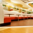 Restaurant interior in a shopping mall — Stock Photo
