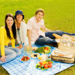 Stock Photo: Friends at picnic