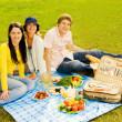 Friends at picnic — Stock Photo