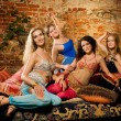 Group of beautiful women in harem — Stock Photo