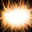 Abstract photo of fireworks with free space in the middle — Stock Photo