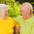 Happy senior couple outdoors — Stock Photo #4803884