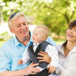 Happy family outdoors — Stock Photo #4803943