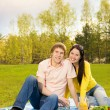 Young couple at romantic picnic — Stock Photo