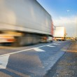 Fast moving truck — Stock Photo #4803989