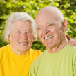 Stock Photo: Senior couple in love outdoors