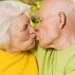 Senior couple in love outdoors — Stock Photo