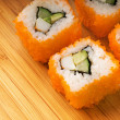california futomaki sushi on bamboo plate — Stock Photo