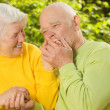 Senior couple in love outdoors — Stock Photo #4804076