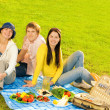 Friends at picnic — Stock Photo