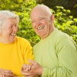Stock Photo: Happy senior couple in love outdoors