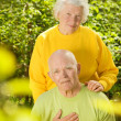 Happy senior couple in love outdoors — Stock Photo