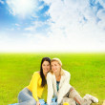 Two beautiful girls at picnic — Stock Photo #4804113