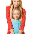 Mother and daughter isolated on white background — Stock Photo #4804114